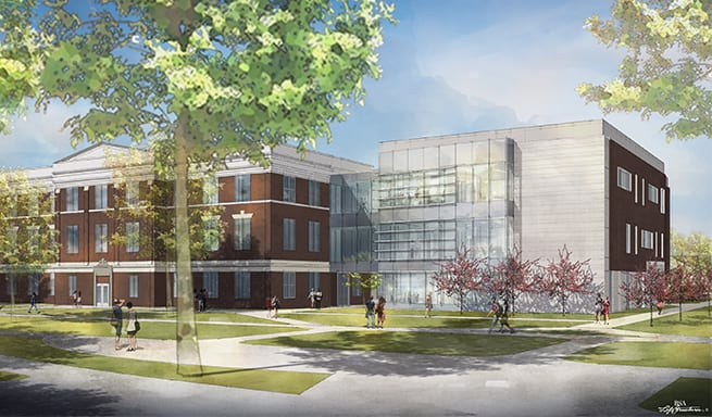 Franklin College Indiana >> Bsa Lifestructures Franklin College Science Hall Ground Breaking